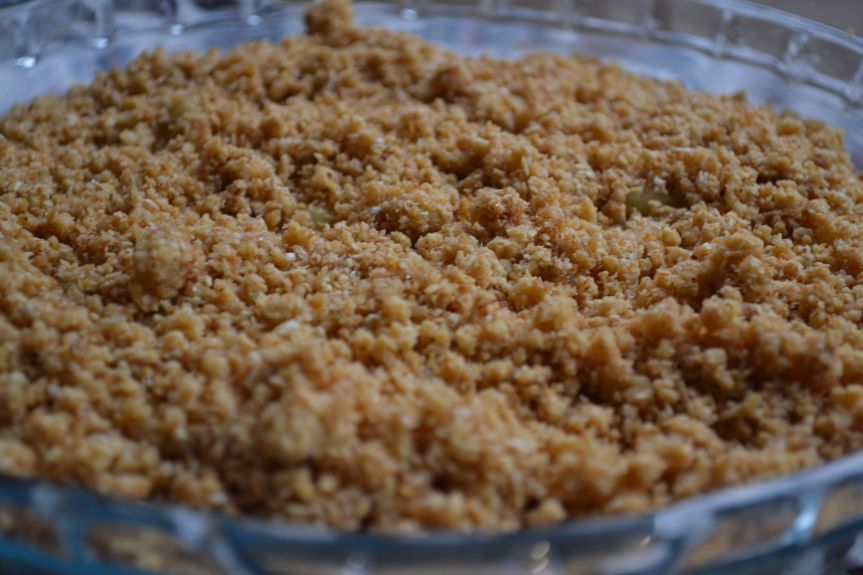 Apple and grape crumble