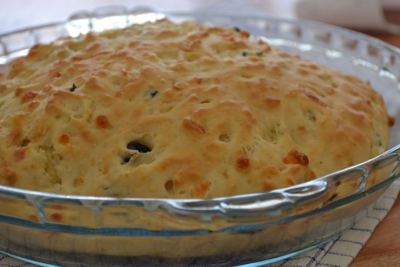 Quick Olive,Onion and Cheese bread