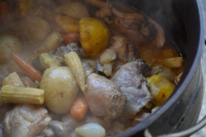 Chicken and Pineapple potjie