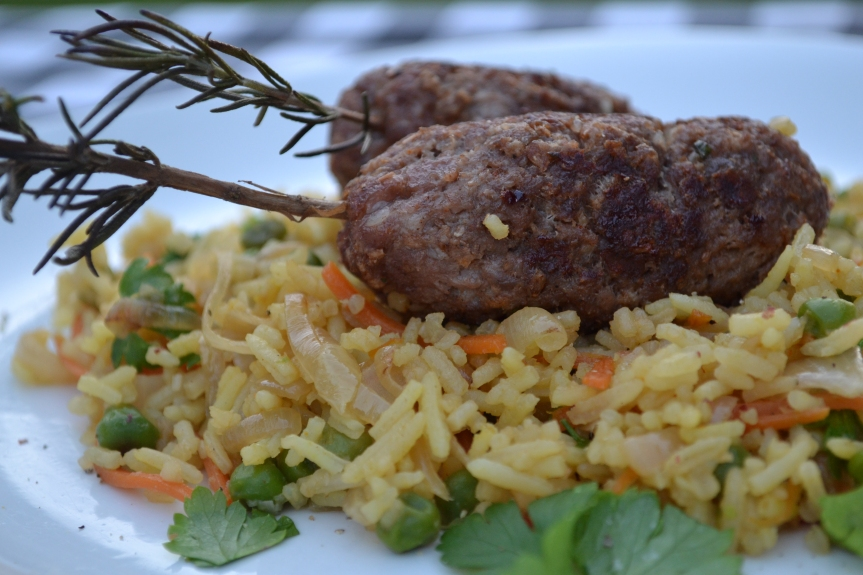 Beef Kofta's with spicy rice
