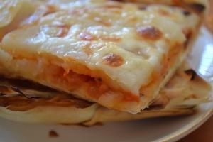 Tomato & potato phyllo tart