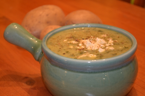 Cream of Spinach and Feta soup