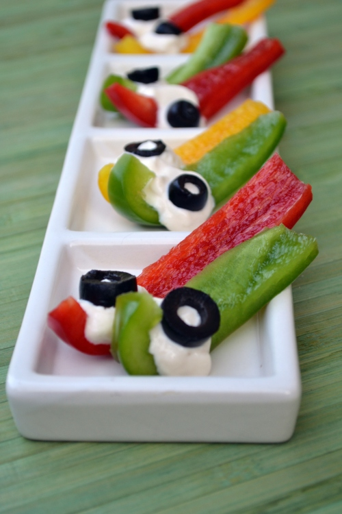 Bell pepper and Cottage Cheese bites